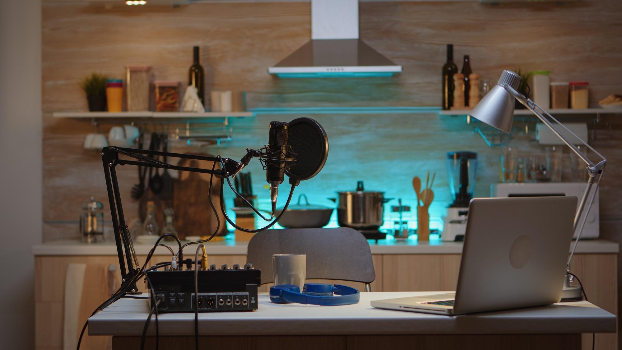 Podcast home studio